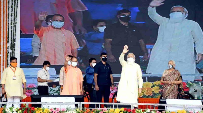 PN-CM-PM Varanasi Projects Lokarpan Shilanyas-15 July, 2021
